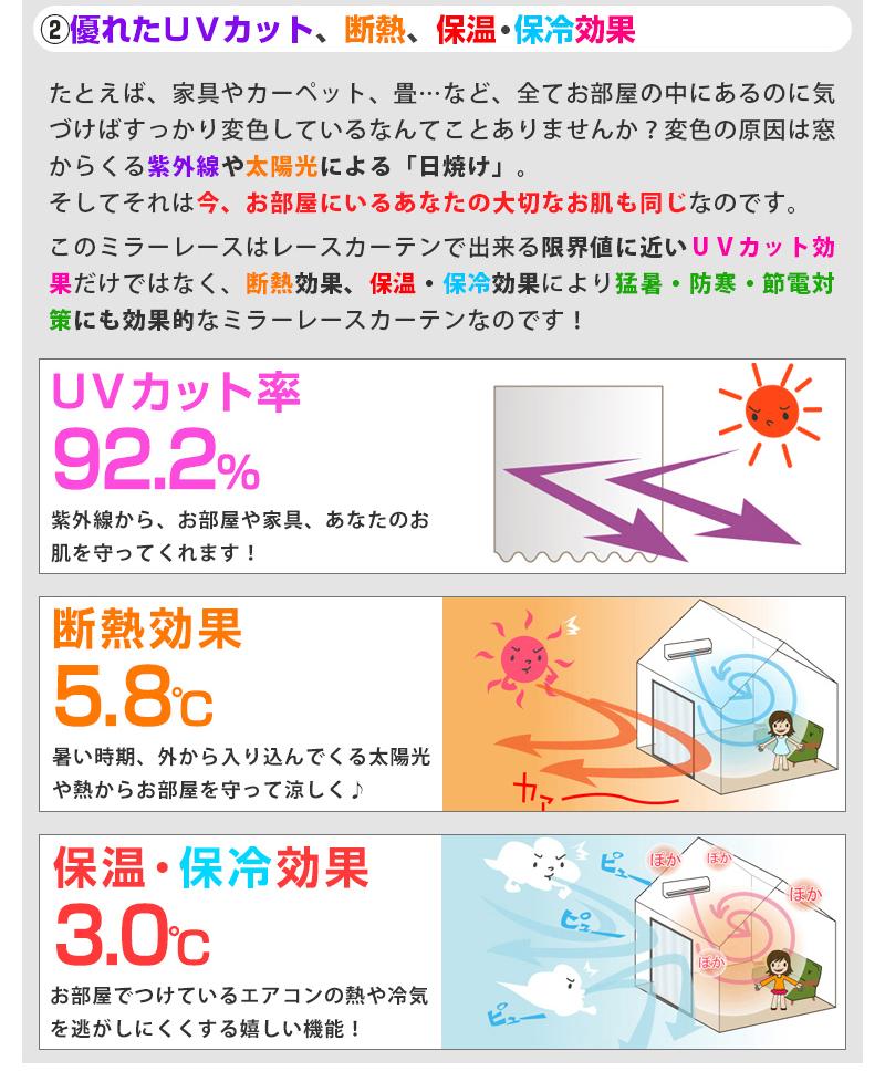 優れたUVカット、断熱、保温・保冷効果
