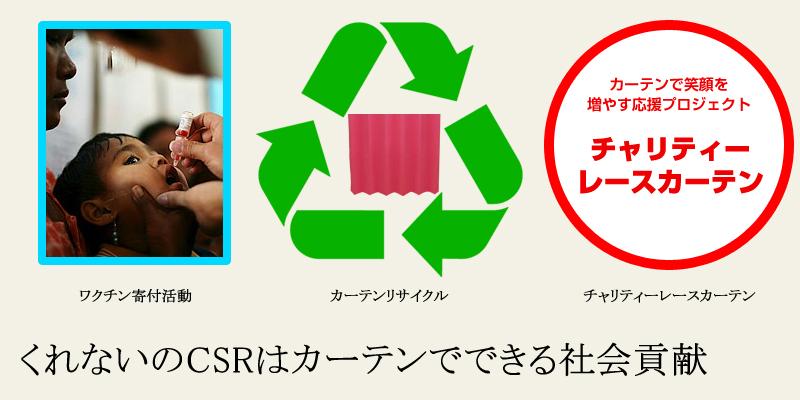 くれないのCSRはカーテンで出来る社会貢献