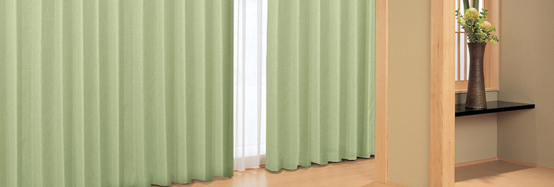 和室の無地カーテンイメージ