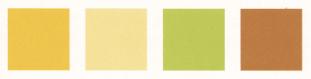 イエローとコーディネートしやすい色