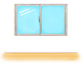 腰高窓のイメージ
