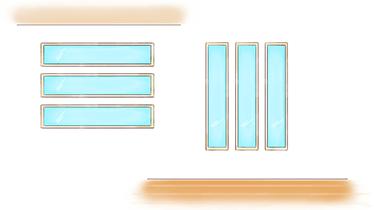 縦長・横長スリット窓のイメージ