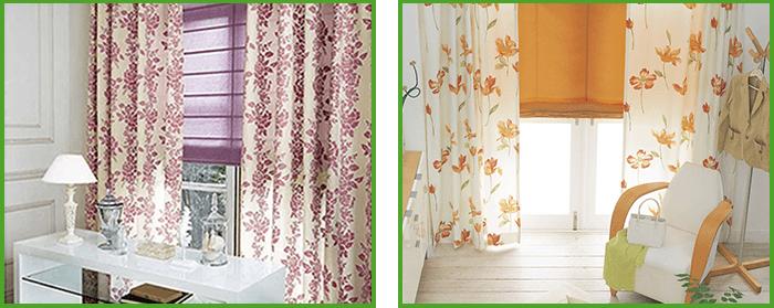 シェードカーテンとカーテンの組み合わせのイメージ